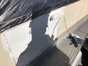 太田市飯田町商業ビル屋上下塗り