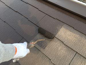邑楽郡大泉町Aアパート様屋根上塗り1回目アップ