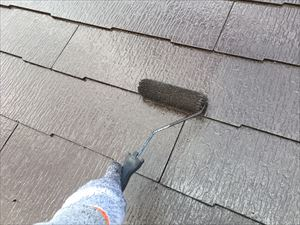 邑楽郡大泉町Aアパート様屋根上塗り2回目