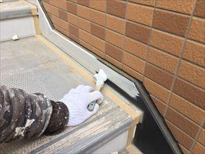 邑楽郡大泉町Aアパート様階段鉄骨下塗り作業