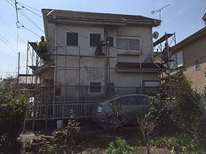 藤岡市下戸塚F様邸 足場設置