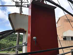 高崎市箕郷町電柱配電板BOX塗装サビ止め完了