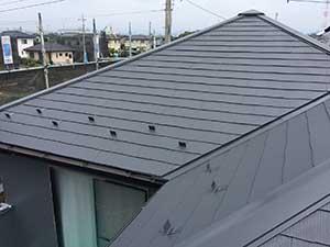 伊勢崎市国定町K様邸屋根塗装終了