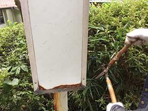 高崎市箕郷町施設看板塗装前草刈