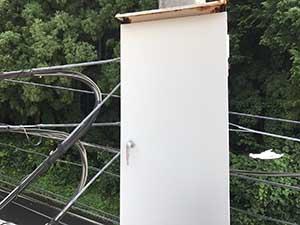 電柱配電板BOX塗装工事施工前2