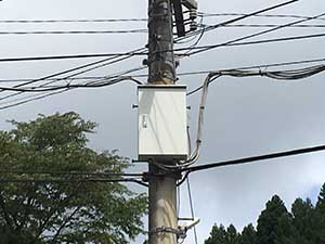 高崎市箕郷町電柱配電板BOX塗装完成