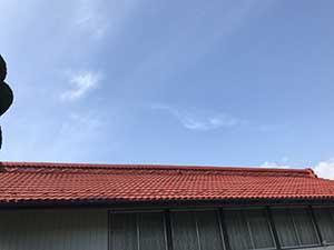 吾妻郡吾妻町K様邸屋根塗装下塗り後