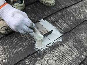 前橋市関根町Y様邸屋根下塗り刷毛