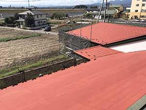 前橋市日輪寺町医療施設外壁屋根塗装下塗り3