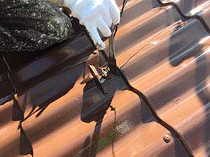 軽井沢町金属屋根上塗り2