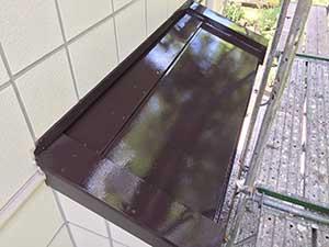 軽井沢町金属屋根上塗り後2