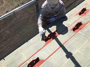 前橋市日輪寺町医療施設外壁屋根塗装下塗り2