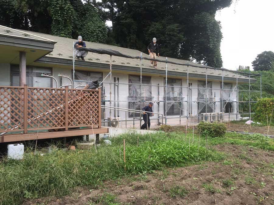 前橋市日輪寺町医療施設外壁屋根塗装台風対策