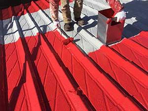 セメント瓦屋根上塗り