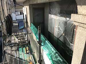 渋川市 外壁塗装 養生