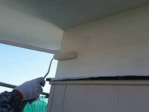 施工事例 吉岡町外壁 白壁下塗り