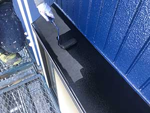 出窓 屋根 塗装