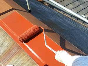 屋根の笠木さび止め
