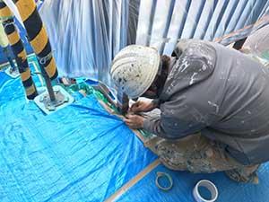 高崎市 アパート 外壁塗装 養生