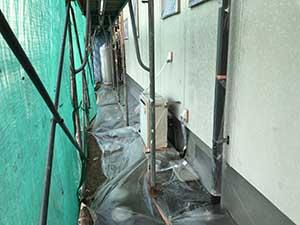玉村町 外壁塗装 養生