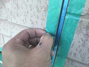 玉村町 外壁テープ貼り