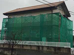 玉村町 外壁塗装 足場組立