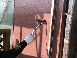 玉村町 上部壁上塗り