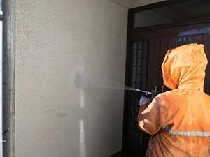 高崎市上中居町 モルタル外壁 洗浄