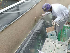 藤岡市 外壁上塗り2回目