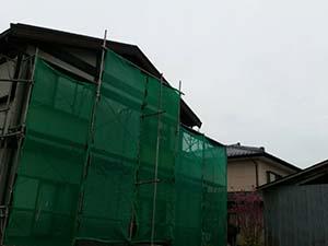 藤岡市 屋根外壁塗装 足場