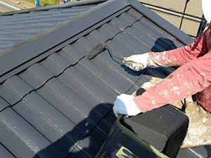 藤岡市 屋根上塗り2回目