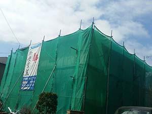 高崎市箕郷町 外壁塗装工事 足場