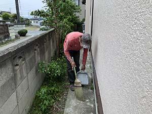 藤岡市 外壁塗装終了後 掃除