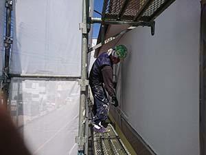 藤岡市 外壁上塗り