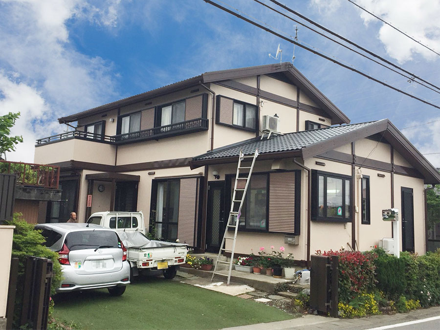 藤岡市 屋根外壁塗装 施工事例