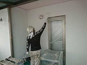 藤岡市 外壁塗装 中塗り