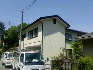 渋川市伊香保町 外壁塗装工事 完工