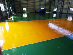太田市 工場床塗装 完工