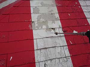 ケンタッキーフライドチキン 屋根洗浄