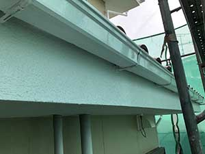 埼玉県上里町 破風と樋の塗装後