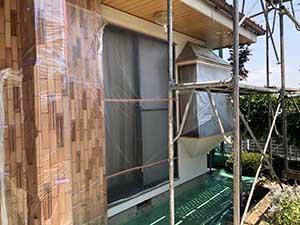 埼玉県上里町 外壁塗装前養生