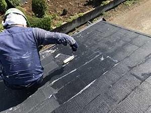 前橋市富士見町 屋根塗装 下塗り1回目