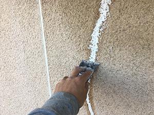 モルタル外壁ひび補修