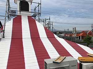 KFC屋根塗装 上塗り