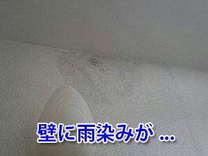 壁に雨染み