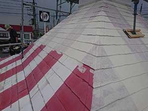 kfc店舗 屋根フィーラー塗装