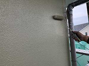 埼玉県上里町 外壁上塗り