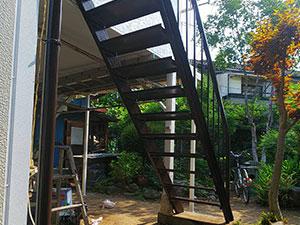 桐生市 鉄骨外階段塗装