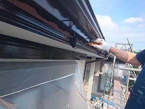 前橋市富士見町 破風板塗装