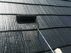 吉岡町 屋根上塗り1回目